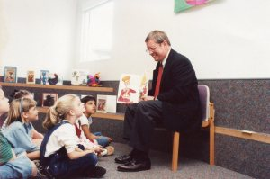 Bob Chambers with Students